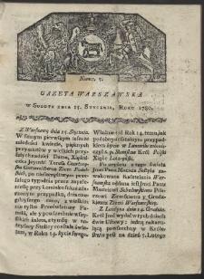 Gazeta Warszawska. R. 1780 Nr 5