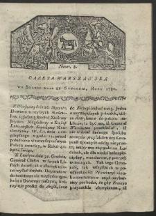 Gazeta Warszawska. R. 1780 Nr 8