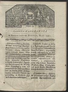 Gazeta Warszawska. R. 1780 Nr 9