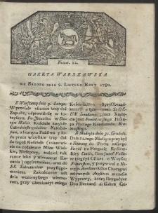 Gazeta Warszawska. R. 1780 Nr 12