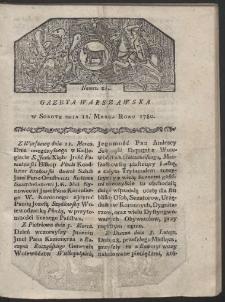 Gazeta Warszawska. R. 1780 Nr 21