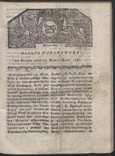 Gazeta Warszawska. R. 1780 Nr 22