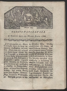 Gazeta Warszawska. R. 1780 Nr 25