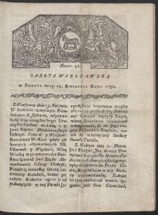 Gazeta Warszawska. R. 1780 Nr 31