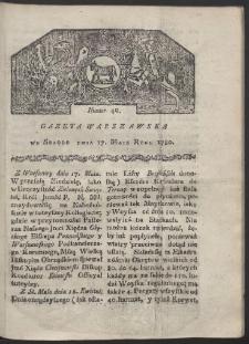 Gazeta Warszawska. R. 1780 Nr 40