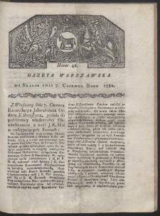 Gazeta Warszawska. R. 1780 Nr 46
