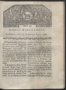 Gazeta Warszawska. R. 1780 Nr 49