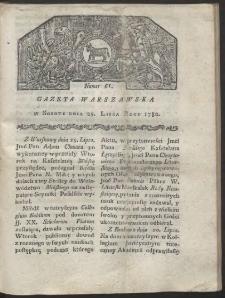 Gazeta Warszawska. R. 1780 Nr 61