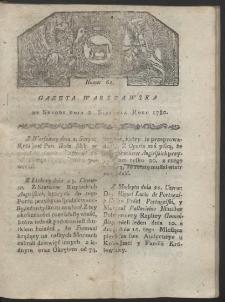 Gazeta Warszawska. R. 1780 Nr 62