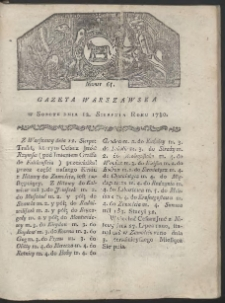 Gazeta Warszawska. R. 1780 Nr 65