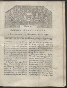 Gazeta Warszawska. R. 1780 Nr 67