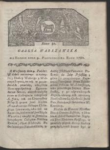 Gazeta Warszawska. R. 1780 Nr 80