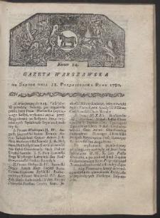 Gazeta Warszawska. R. 1780 Nr 84