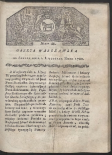 Gazeta Warszawska. R. 1780 Nr 88