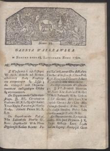 Gazeta Warszawska. R. 1780 Nr 93