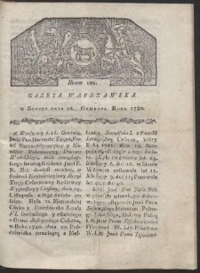 Gazeta Warszawska. R. 1780 Nr 101