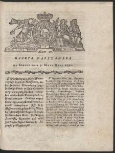Gazeta Warszawska. R.1781 Nr 37