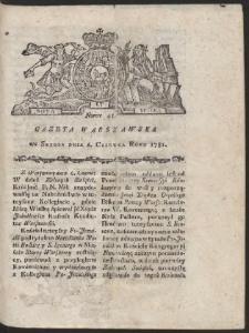 Gazeta Warszawska. R.1781 Nr 45