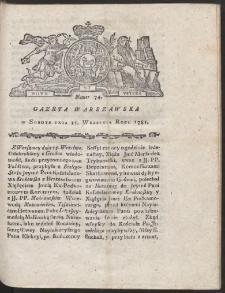 Gazeta Warszawska. R.1781 Nr 74