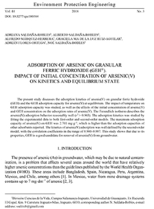 Adsorption of arsenic on granular ferric hydroxide (GEH®). Impact of initial concentration of arsenic(V) on kinetics and equilibrium state