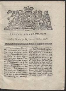 Gazeta Warszawska. R.1782 Nr 2