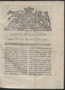 Gazeta Warszawska. R.1782 Nr 4