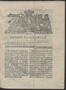 Gazeta Warszawska. R.1782 Nr 7