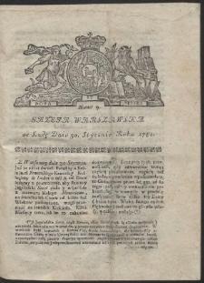Gazeta Warszawska. R.1782 Nr 9