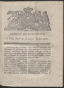 Gazeta Warszawska. R.1782 Nr 14