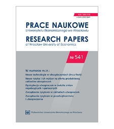 Spis treści [Prace Naukowe Uniwersytetu Ekonomicznego we Wrocławiu = Research Papers of Wrocław University of Economics; 2018; Nr 541]