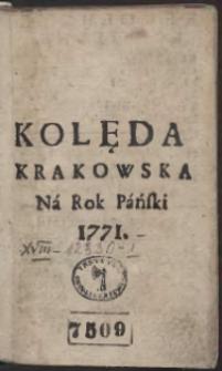 Kolęda Krakowska Na Rok 1771