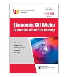 Spis treści [Ekonomia XXI Wieku = Economics of the 21st Century, 2018, Nr 4 (20)]