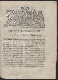 Gazeta Warszawska. R.1782 Nr 22