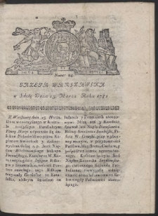 Gazeta Warszawska. R.1782 Nr 24