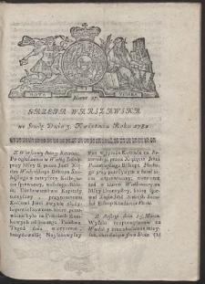 Gazeta Warszawska. R.1782 Nr 27