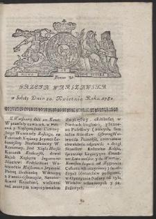 Gazeta Warszawska. R.1782 Nr 32