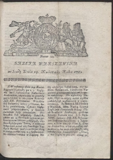 Gazeta Warszawska. R.1782 Nr 33