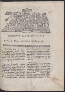 Gazeta Warszawska. R.1782 Nr 39
