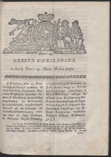 Gazeta Warszawska. R.1782 Nr 43