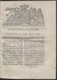 Gazeta Warszawska. R.1782 Nr 60
