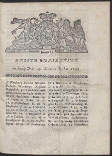 Gazeta Warszawska. R.1782 Nr 65
