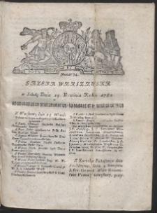Gazeta Warszawska. R.1782 Nr 74