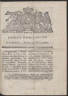 Gazeta Warszawska. R.1782 Nr 79