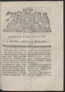 Gazeta Warszawska. R.1782 Nr 80