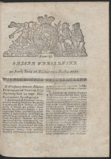 Gazeta Warszawska. R.1782 Nr 83