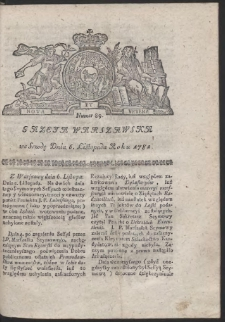 Gazeta Warszawska. R.1782 Nr 89