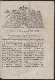 Gazeta Warszawska. R.1782 Nr 94