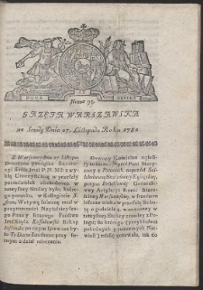 Gazeta Warszawska. R.1782 Nr 95
