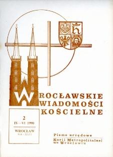 Wrocławskie Wiadomości Kościelne. R. 43 (1990), nr 2