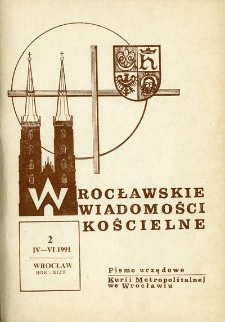 Wrocławskie Wiadomości Kościelne. R. 44 (1991), nr 2